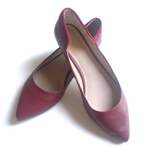 Joe's Jeans JJ Leather Suede Pointed Toe Flats 7.5